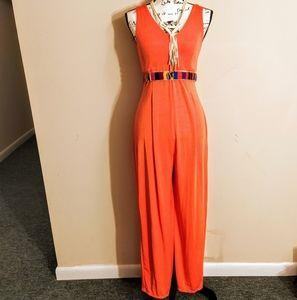 Disco/Studio 54 Orange Jumpsuit/Romper